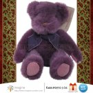 New w/Tag Russ Berrie TEDDY Violet Purple Bear 5.5&quot; Bears from the Past Plush Christmas