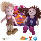 Groovy Girls Lot with 2 Dolls Reese and Gwen Plus Drum Set Soft Plush Drums & Stuffed Dolls Awesome!