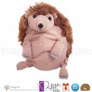 "Kohls Cares Happy Hedgehog 7"" Plush Kohl's Stuffed Animal Toy Puppet Folds into Ball Marcus Pfister"