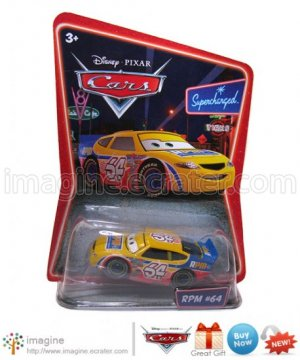 Disney Pixar World of Cars Movie Toy RPM #64 #41 Mint on Card Mattel Lot Listed