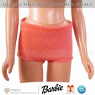 Vintage Barbie Clothes Midge Straight Legs 1963-1967 Orange Nylon Swimsuit Bottoms Doll Clothing
