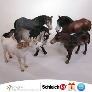 Schleich Farm Animal Horse Lot Clydesdale Arabian Mare Andalusian Stallion Horses Germany