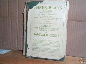 Three Plays by Brieux hcdj 1911