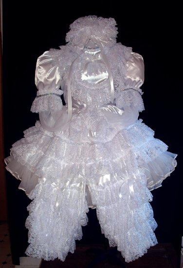 All White 3 pc Dress Set