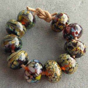 10 Lampwork Bead Assortment Woodland Trail