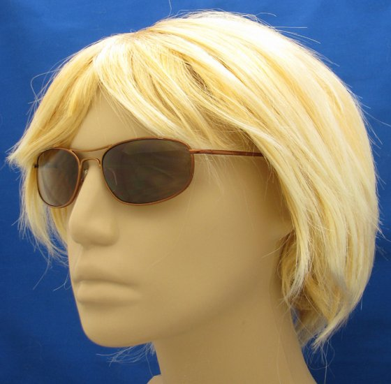 505RC-300 TINTED READING GLASSES SUNGLASSES READERS COPPER COLORED METAL FRAME +3.00 BIFOCAL
