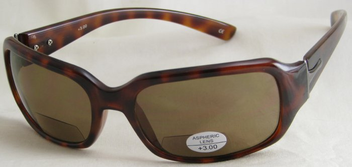 624RLST-300 TINTED READING GLASSES READERS SUNGLASSES LEOPARD SPOTTED PLASTIC FRAME +3.00 BIFOCAL