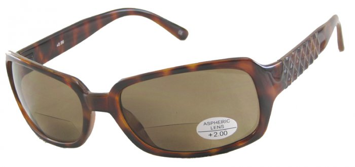 933RLST-200 TINTED READING GLASSES READERS SUNGLASSES LEOPARD SPOTTED TORTOISE FRAME +2.00 BIFOCAL
