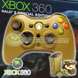 XBOX 360 HALO 3 Wireless Controller - Limited Edition HALO Version (New in bulk packaging)