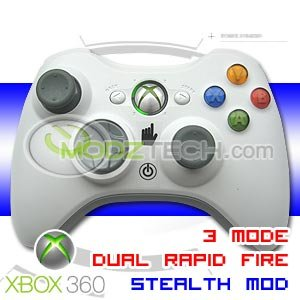 XBOX 360 3 MODE RAPID FIRE TURBO Wireless Controller (STEALTH MODDED) with GREEN LED Lights