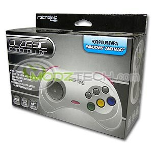 Japanese Sega Saturn (White) USB Controller Pad for PC / MAC