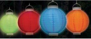 Set of 4 Solar Patio Lantern - 4 left!