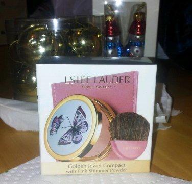 Estee Lauder butterflies Golden Jewel Compact pink shimmer