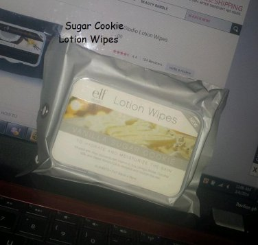 ELF Studio Lotion Wipes Vanilla Sugar Cookie Limited for Holiday