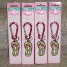 Personalized keyring CHLOE key chain Flip Flop clip