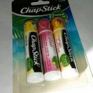 Chapstick 3 pk Tropical Paradise Aloha Watermelon Mango Sunset