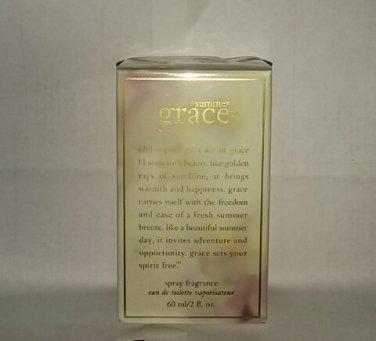 Philosophy Summer Grace limited edition fragrance edt spray 2 oz