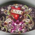 Ed Hardy Leather Bracelet (Love Kills Slowly)