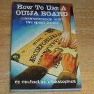 How to Use Ouija Board BOOK NEW Pagan Wicca Magick