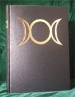 Blank Black Book of Shadows: Triple Moon New Witchcraft