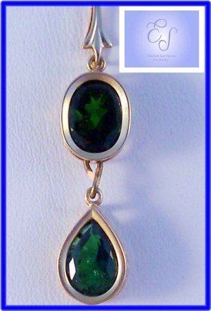 Chrome Diopide gorgeous gemstones 14k French bail pendant