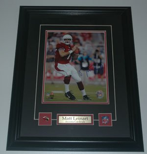 Matt Lienhart Arizona Cardinals Signed Framed