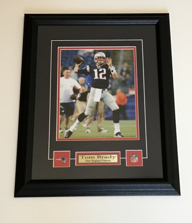 Tom Brady New England Patriots Auto Framed