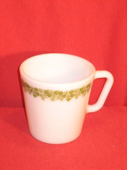 Pyrex Spring Blossom Green Coffee Mug 8 oz