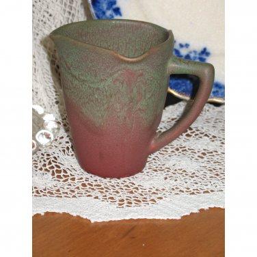 Rookwood Pottery 1908 Tri-Spout Pitcher Matte Glaze Hand Carved Arts & Craft