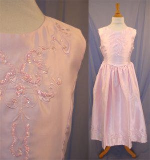 Handmade Satin Bodice With Flower Embroidery