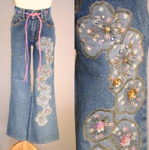 Sequin Appliqued Jeans