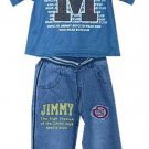 2 Pc Jimmy Designer Denim Set