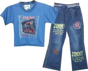 2 Pc Jimmy Designer Denim Set