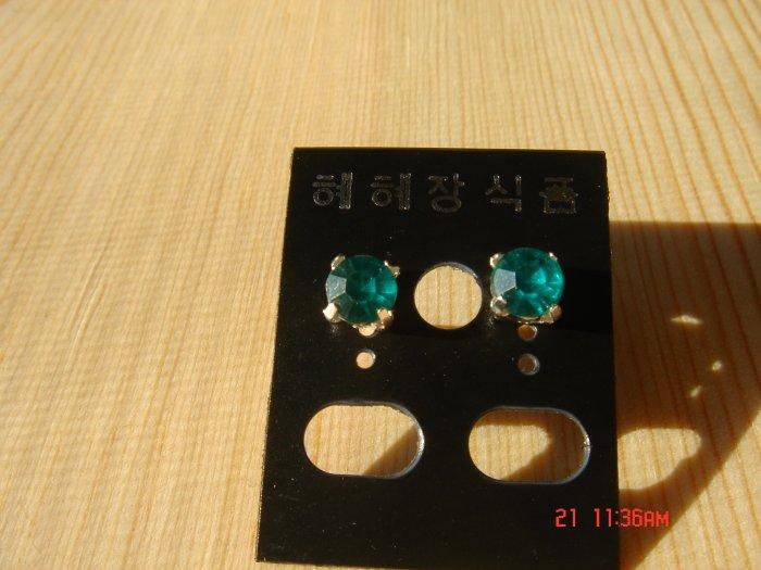 Fashion Korean Green Colorstone Studs Earrings ON SALE 2009**FREE SHIP