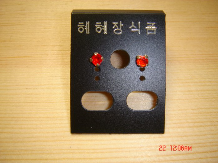 Fashion Red Korean Colorstone Studs Earrings ON SALE 2009**FREE SHIP