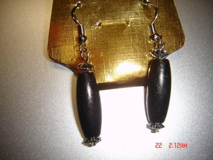 Fashion Handmade Black Wood Dangle Earrings ON SALE 2009**FREE SHIP