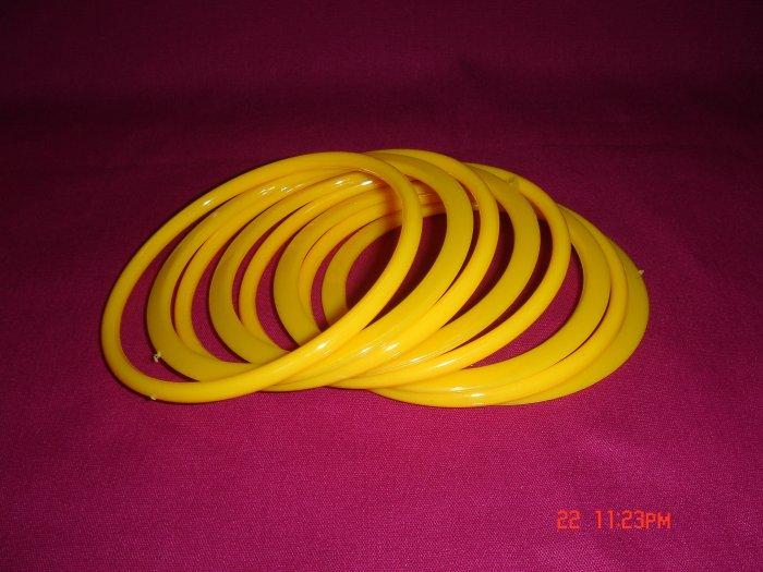 Latest Fashion 8 Lemon Yellow Bangles set ON SALE 2009**
