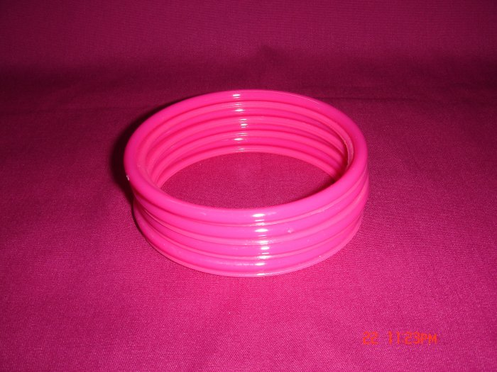 "Latest Fashion 8 Hot Pink ""So What"" Bangles set"