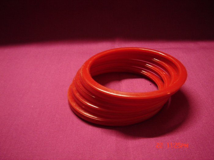 Latest Fashion 8 Hot Red Bangles set ON SALE 2009**