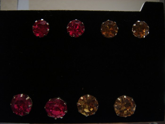 1 pair 12mm Rhinestone 925 Studs Earrings~choose color**FREE Silver Foil Gift Box and packaging