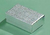 On SALE***1 Small Silver Foil Cotton Filled Gift Box for Earrings, Silver Necklace