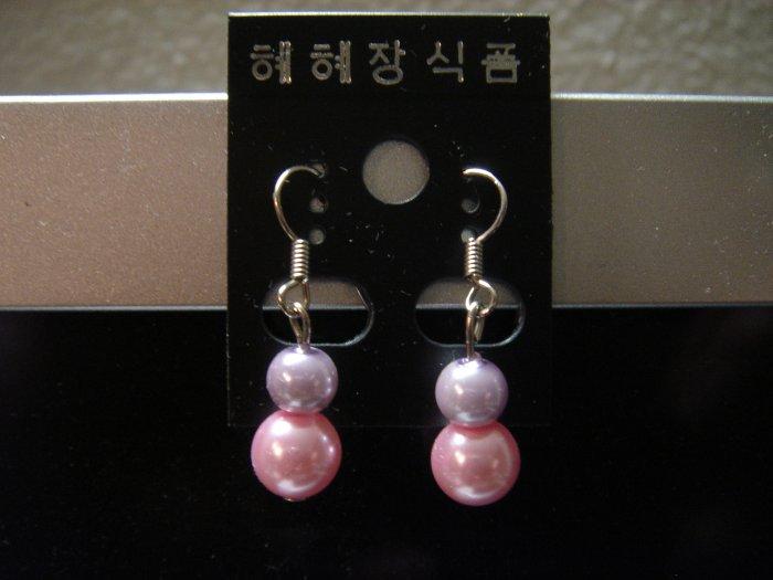 Handmade Pearl Dangle 925 hook Earrings**FREE GIFT BOX