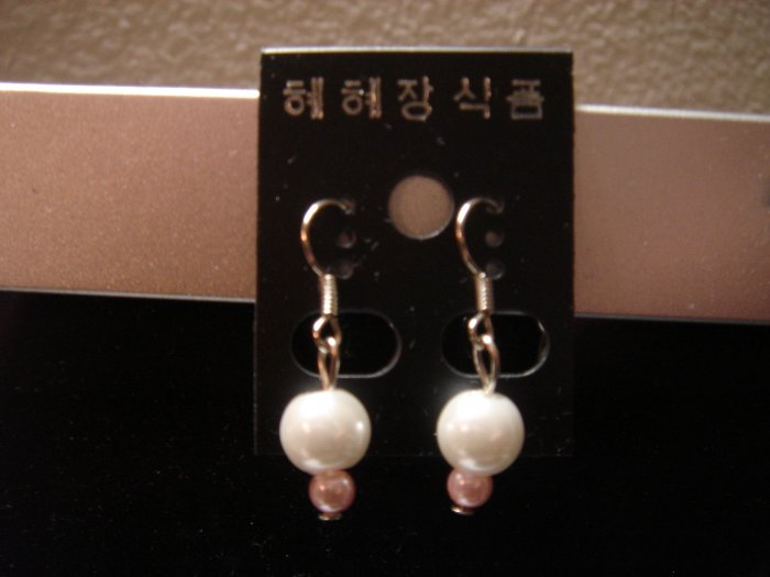 ON SALE Handmade Pearl Dangle 925 hook Earrings**FREE Silver Cotton-Filled GIFT BOX and Packaging