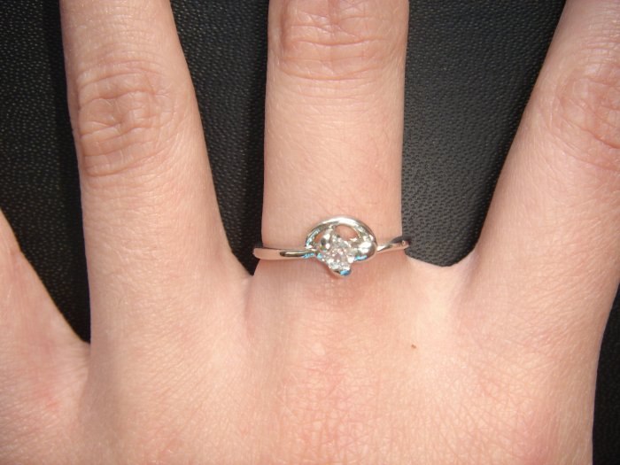 On SALE $25 NEW 925 CZ Cubic Zirconia Silver Ring Gift*+FREE BOX*