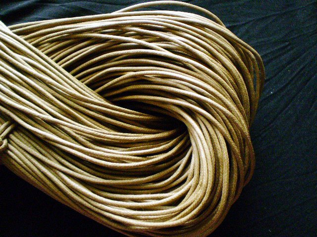 2 mm/10 meters Wax Knit Cord/jewelry Necklace findings