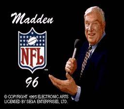 Madden NFL 96 Sega Genesis Video Game Cartridge + Book