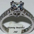 1.5 CT PRINCESS CUT SOLITAIRE RING * EXCLUSIVE * Sz 7 *
