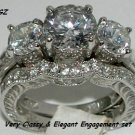 3.0 CT ENGAGEMENT/WEDDING SET Sz 7*NEW*EXCLUSIVE*