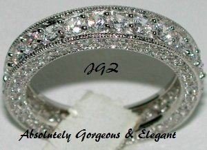 7.50CT VINTAGE STYLE ANNIVERSARY/ ETERNITY BAND* Sz 8 *