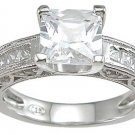 2.5CT ANTIQUE PRINCESS CUT ENGAGEMENT RING * Sz 7 *NEW*